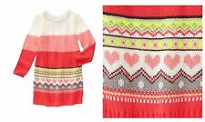 VALENTINE'S NWT Gymboree Play By Heart Fair Isle Hearts Knit Sweater Dress Girl