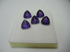 Natural Amethyst Trillion Calibrated Sizes 4mm - 9mm Top Quality loose Gemstone