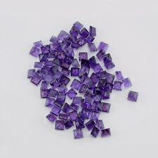 Natural Amethyst Square Calibrated Sizes 4mm - 8mm Top Quality Loose Gemstone