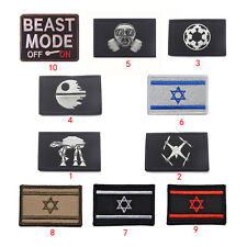 Mulit Pattern Embroidery War Military Tactical Army Morale Patch Badge Armbands