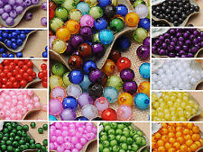 100Pcs Fashion Good Quality Exquisite Acrylic Round Spacer Loose Beads 10mm