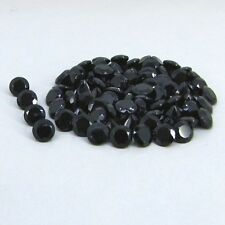 Natural Black Spinel Cut Round Calibrated Size 1mm - 10mm Top Quality Gemstone