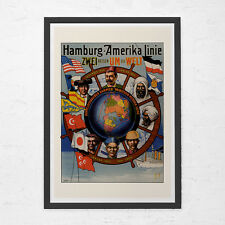 CRUISESHIP TRAVEL POSTER - Art Deco Travel Poster - Vintage Nautical Poster, Cru