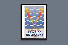 Aquatic Travel Poster - Retro KODAK Ad -1930s Nautical Print Beach Poster Beach