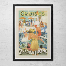 CANADIAN PACIFIC Cruise Travel Poster - Travel Print - Professional Reproduction