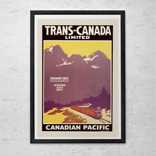 CANADA Travel Poster - Train Travel Print - Professional Reproduction Canadian P