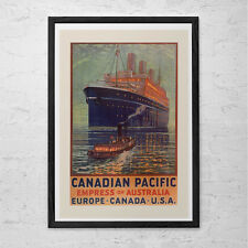 Ocean Liner Travel Poster - Cruise Ship Travel Print - Professional Reproduction
