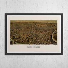 FORT WORTH Map Print - Antique Texas Wall Art - Vintage Map of Fort Worth Texas