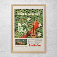 RETRO KITSCH ADVERTISEMENT - Jolly Green Giant Peas Ad - Vintage Kitsch Retro Po