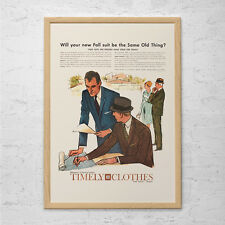 RETRO FASHION AD - Gentlemans Poster Ad - Mid Century Poster Retro Kitsch Poster