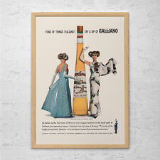RETRO BARWARE POSTER  - Vintage Galliano Ad - Mid Century Wall Art, Retro Bar Po