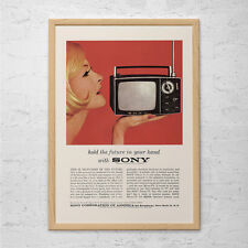 Vintage Sony Advertisement Mad Men Poster Retro Print Mid-Century Poster Vintage