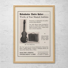 VINTAGE RICKENBACKER GUITAR Ad - Classic Music Ad - Lap Steel Guitar Ad, Classic