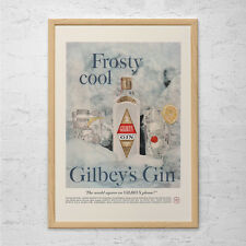 VINTAGE GIN ADVERTISEMENT - Mid Century Ad - Mad Men Poster, 50's Bar Poster, 50