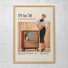 CLASSIC KITSCH TV Advertisement - Retro Television Ad - Mid-Century Poster Mad M
