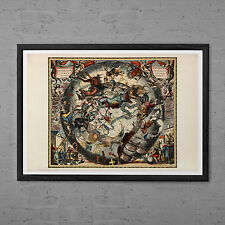 ANTIQUE ZODIAC ART Print - Vintage Astrology Print - Professional Reproduction -