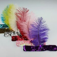 Colorful Flapper Feather Sequin Headband Party Feather Headband Headwear Costume