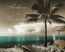 Bayside-Teal Home Decor Picture Wall Art Ocean Seascape 1