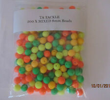 SEA FISHING RIG BEADS 8mm *SUPER BRIGHT* YELLOW ORANGE GREEN MIXED ATTRACTOR