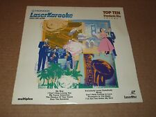 "LASER KARAOKE TOP TEN STANDARD HITS VOL. 1 VIDEO SING A LONG 12"" LASERDISC"