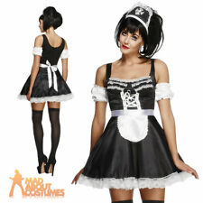 Adult Flirty French Maid Costume Ladies Fancy Dress Outfit New