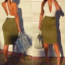 Sexy Halter Deep V-Neck Backless Bodycon Sleeveless Club-wear Dresses for Women