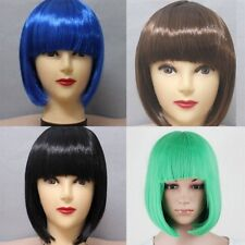 Fashion Lady Women Short Straight Wigs Synthetic Cosplay Party Full Wig Costume