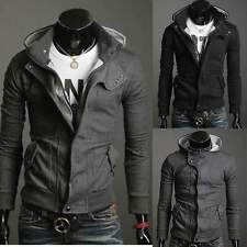 Fashion Cool Men Zip Up Hooded Slim Top Designed Sexy Warm Outwear Jacket