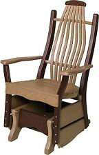 Recycled Poly Bentwood Lumber Porch Glider - 18 COLOR OPTIONS - Amish Made