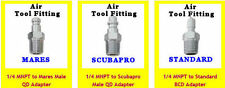 Scuba Air Tool Fitting Adapter for Mares - Scubapro & Standard BCD Inflator Hose