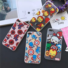 Cool Cartoon Super Heros Soft TPU Hard PC Case Cover for iPhone 5S 6 6S Plus
