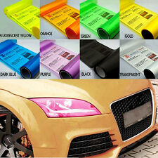Colorful Car Headlight Taillight Wrap Cover Gloss Light Smoke Vinyl Film Sheet