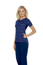 Skechers Women V-Neck Two Pockets After Midnight Scrub Top