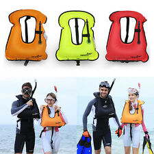 Mens Snorkeling Gear Swimwear Inflatable Adult Life Jackets Vest Swimwear JL