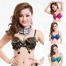 Womens Ladies handmade belly dance costume bra top beads sequins Bra Size 36B