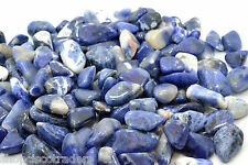 SODALITE B Quality Small Size QTY - 15 PIECES Tumbled Stone Healing Crystal