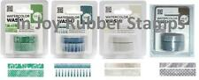 We R Memory Keepers Watercolor Washi Tape 8 Total Rolls Clover Smoky Ash Denim