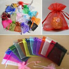 50 Pcs New Organza Jewelry Wedding Favor Gift Pouch Bags 7*9cm 2.7*3.5""