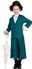 Mary Poppins Victorian Nanny Mcphee Book Week Girls Fancy Dress Costume Age 5-10