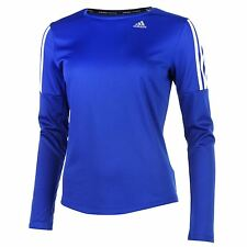 adidas Womens Ladies Questar Long Sleeve Running Top Crew Neck Sports New
