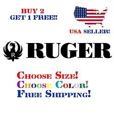 Ruger Decal Sticker Free Shipping Buy 2 Get 1 Free!!