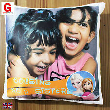 Personalised Photo Cushion  Cover Valentines Gift Desing , High Quality Satin