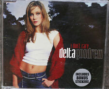 DELTA GOODREM I Don't Care VERY RARE 1st CD Single with Stickers