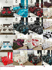 Duvet quilt Cover with Pillow Cases Bedding Set All uk Size