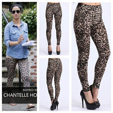 WOMENS LADIES CELEBRITY LOOK STRETCH ANIMAL LEOPARD PRINT LEGGINGS PLUS SIZE8-22