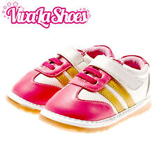 Girls Toddler - Leather Squeaky Shoes - Hot Pink Trainers