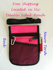 Double Sided Pink Color Nurse Pouch with Red Color Neuro Torch