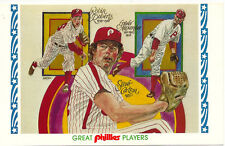 Phillies 1983 Nostalgia Nights Postcard #2 Roberts/Carlton/Alexander Dick Perez