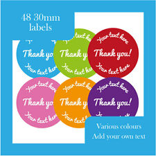 Thank you stickers that you can personalise- various colours available labels