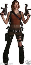 """ALICE of the RESIDENT EVIL Films """"MILLA JOVOVICH""""  -Full Body Window Cling Decal"""